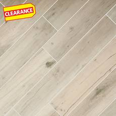 Clearance! Birch Forest Gray Wood Plank Porcelain Tile