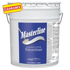 Clearance! Masterline Polyurethane Semi-Gloss Wood Finish 5 gallon