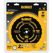 DeWalt 10in. 80 Tooth Precision Trim Blade
