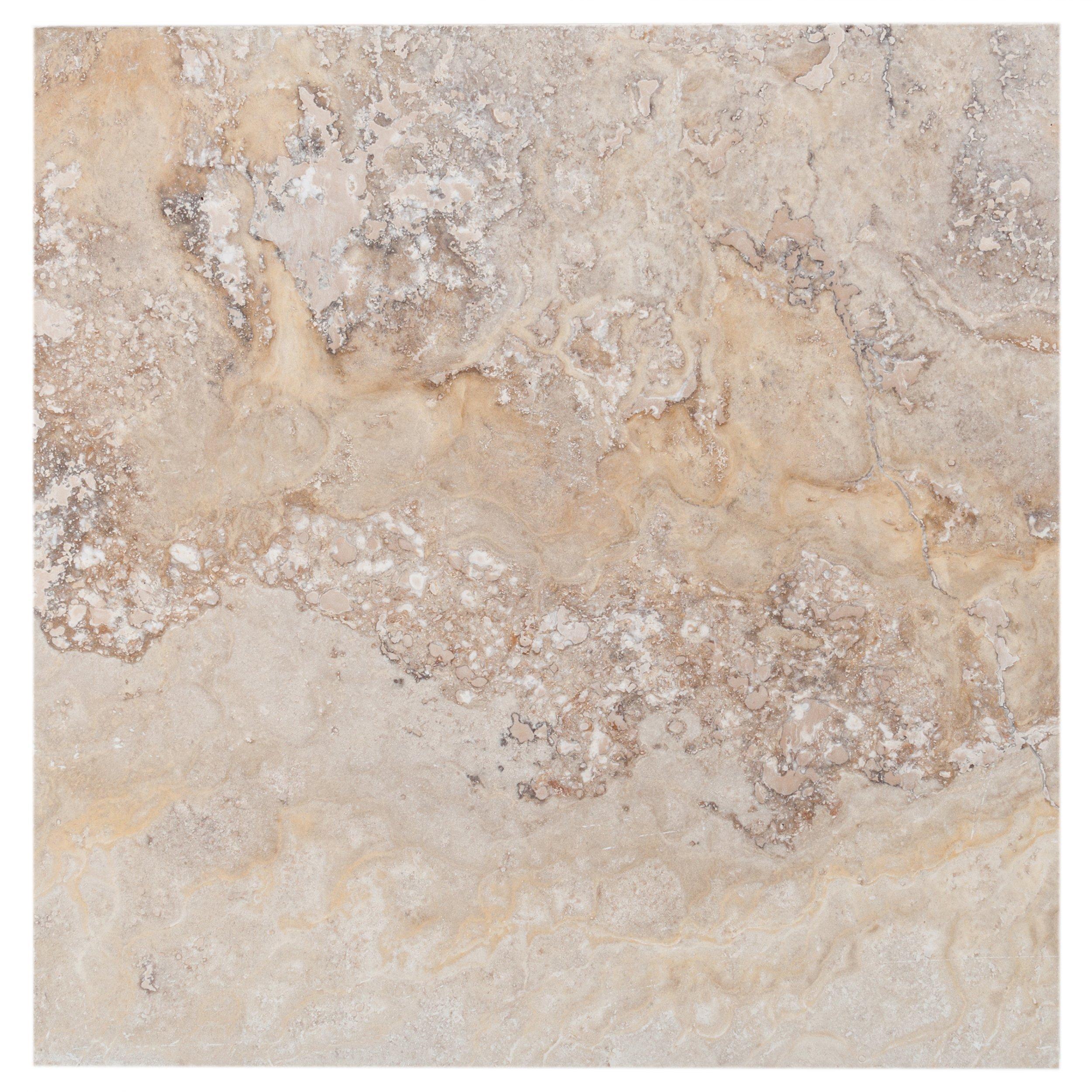 Valencia Travertine Tile - 16 x 16 - 100067446 | Floor and Decor