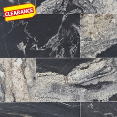 Clearance! Nero Athens Vein Cut Brushed Granite Tile