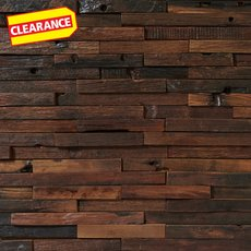 Clearance! Antiqued Rustic Wood Mosaic
