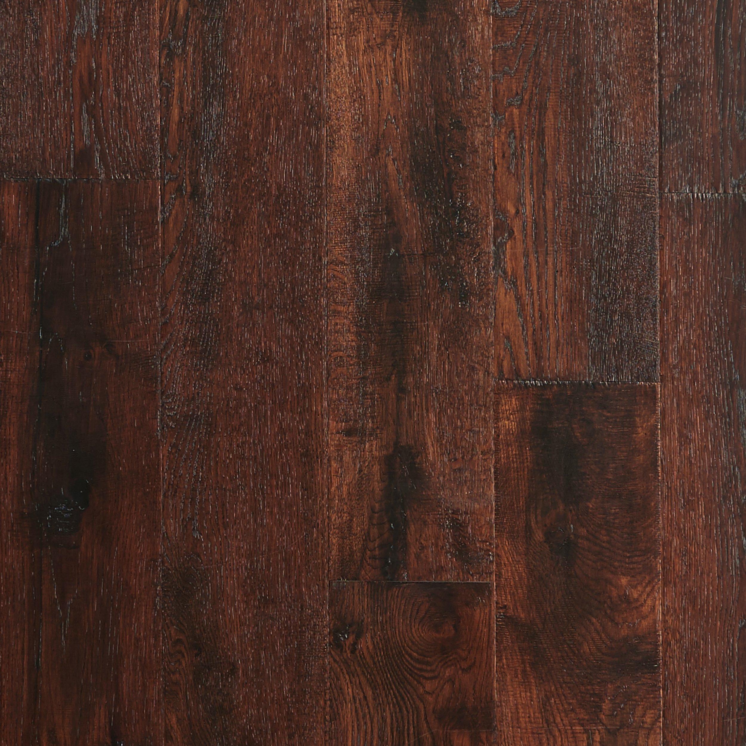 Milan Oak Hand Scraped Engineered Hardwood 3 8in x 6 1 2in