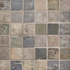 Peacock Tumbled Slate Mosaic