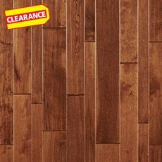 Clearance! Caramel Birch Hand Scraped Solid Hardwood