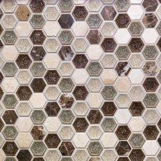 Bershire 1 in. Hexagon Glass Mosaic