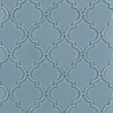Fleur Spa Arabesque Water Jet Cut Glass Mosaic