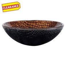 Clearance! Tawny Python Glass Sink