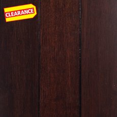Clearance! Dark Walnut Locking Solid Stranded Bamboo