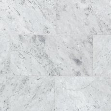 Bianco Carrara Honed Marble Tile