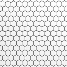 White Hexagon II Porcelain Mosaic
