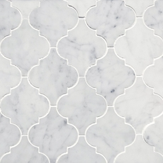 Bianco Carrara Arabesque Marble Mosaic