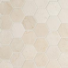 Crema Marfil 3 Hexagon Marble Mosaic