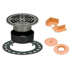 Schluter Kerdi-Drain Round Stainless Steel 6In. Grate Kit