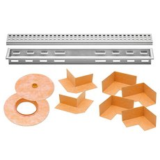 Schluter Kerdi-Line 1-1/8in. Frame 28in. Perforated Grate
