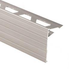 Schluter Schiene-Step-39 Profile 5/16in. Aluminum Satin Nickel