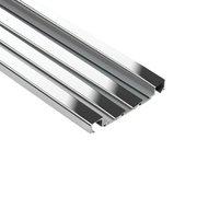 Schluter Quadec-Fs Deco 5/16in. Aluminum Polish Chrome
