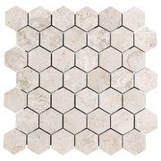Tarsus Almond Hexagon Porcelain Mosaic