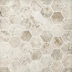 Uptown Antracite Hexagon Porcelain Mosaic 12 X 12