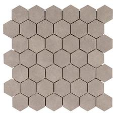 Uptown Gray Hexagon Porcelain Mosaic