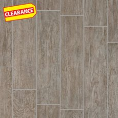 Clearance! Canopy Gray Wood Plank Porcelain Tile