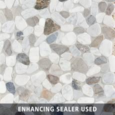 Bianca Carrara Mix Pebble Mosaic