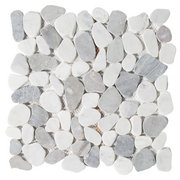 Bianco Carrara Mix Pebble Mosaic