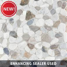 New! Bianco Carrara Mix Pebble Mosaic