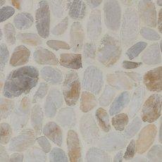 Flat White Honed Pebblestone Mosaic