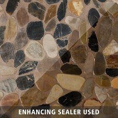 Flat Mixed Honed Pebblestone Mosaic