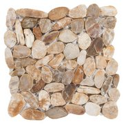 Flat Gold High Polished Pebble Mosaic