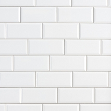 Bright White Ice Subway Ceramic Wall Tile 3 X 6