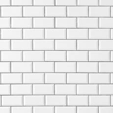 Bright White Ice Beveled Ceramic Wall Tile
