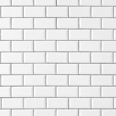 Bright White Ice Beveled Ceramic Wall Tile