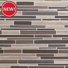 New! Acadia Driftwood Linear Glass and Stone Mosaic