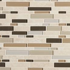 Santos Beige Linear Glass Mosaic