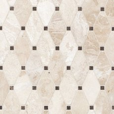 Crema Royal Diamond Polished Marble Mosaic