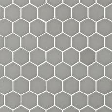 Metro Taupe Matte Hexagon Porcelain Mosaic