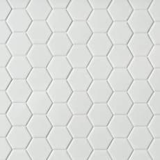 white bathroom tile. Metro White Matte Hexagon Porcelain Mosaic Tile Bathroom  Floor Decor