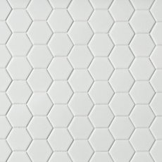 Metro White Matte Hexagon Porcelain Mosaic