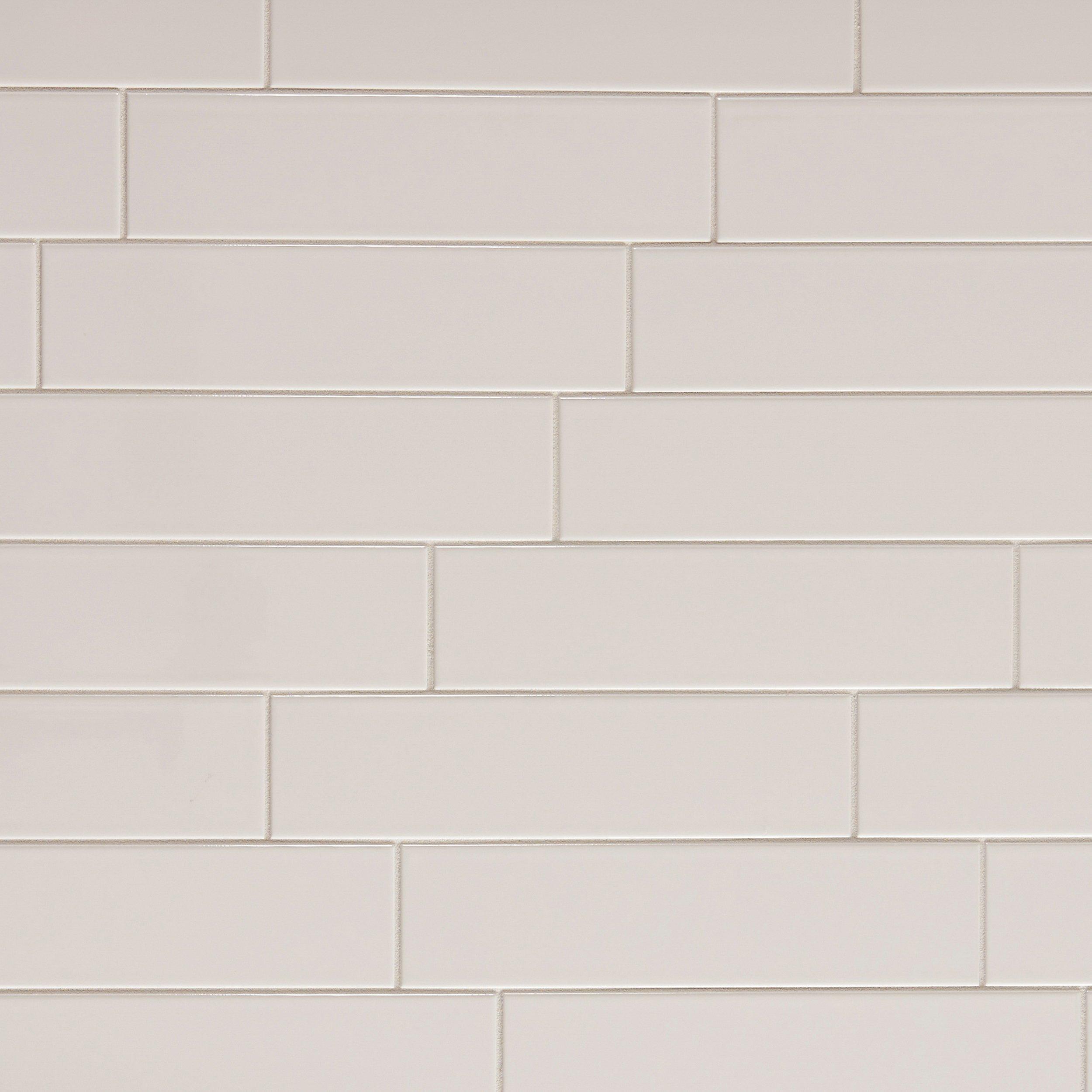 Metro White Polished Ceramic Tile 4 X 16 100139302 Floor And Decor