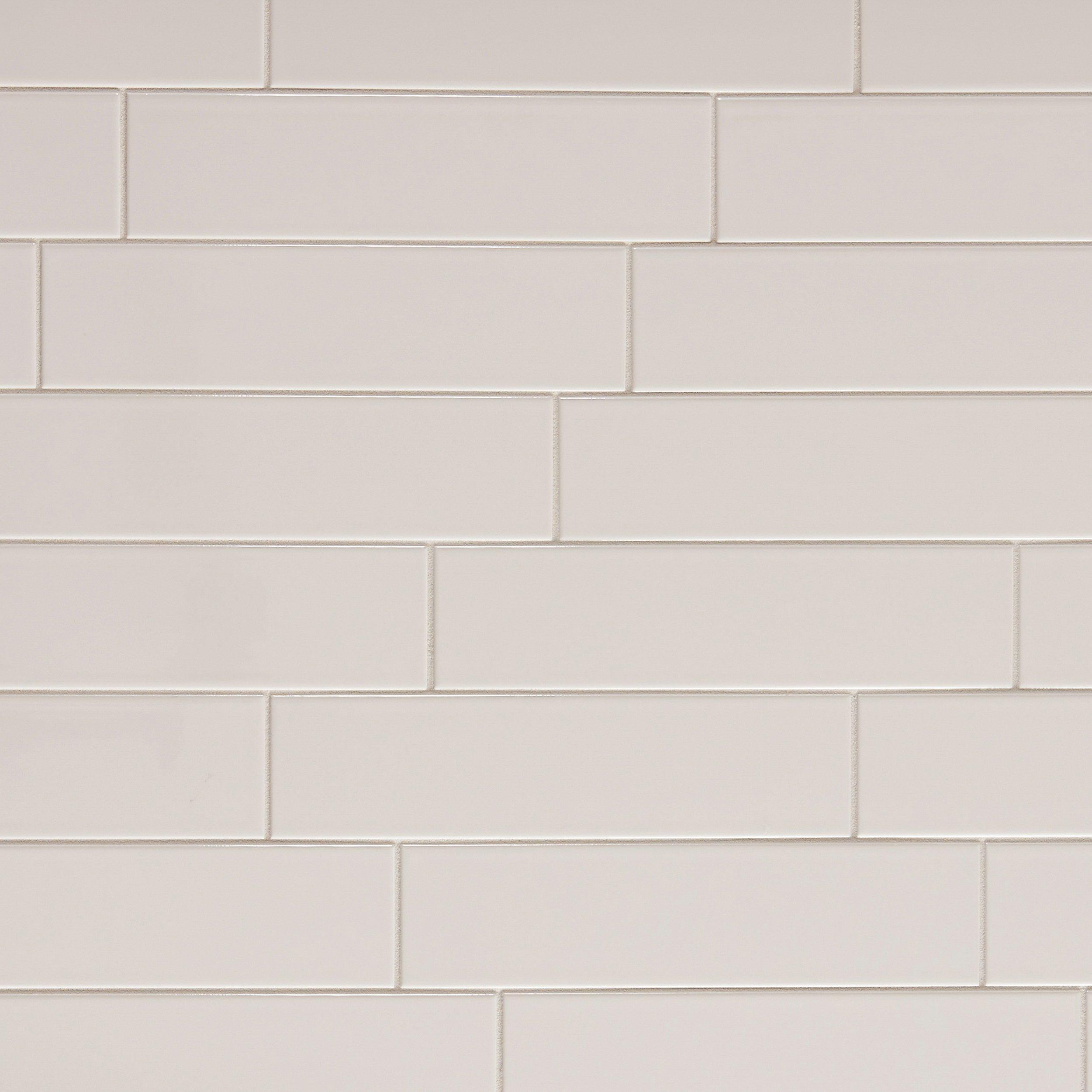 Metro White Glossy Ceramic Tile