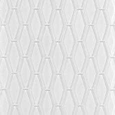 Pure Snow White Elongated Hexagon Glass Mosaic