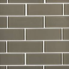 Wool 2 x 6 in. Brick Glass Mosaic