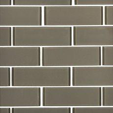 Wool 2 x 6 in. Brick Glass Mosaic