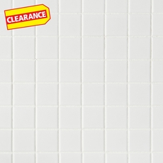 Clearance! Matte White Porcelain Mosaic