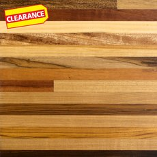 Clearance! Brazilian Carnival Butcher Block Countertop 12ft.