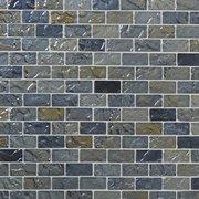 Aegean Shimmer Brick Glass Mosaic