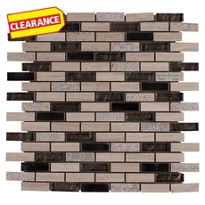 Clearance! Vaua Brick II Glass Mosaic