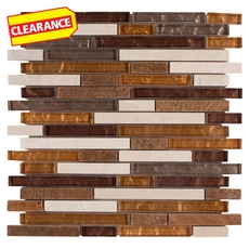 Clearance! Montevideo II Stick Glass Mosaic